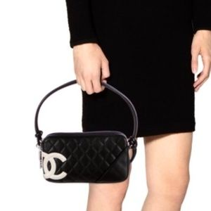 CHANEL Quilted Leather Ligne Cambon Pochette bag